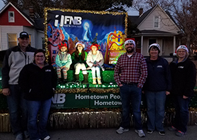fnb float at greenville christmas parade